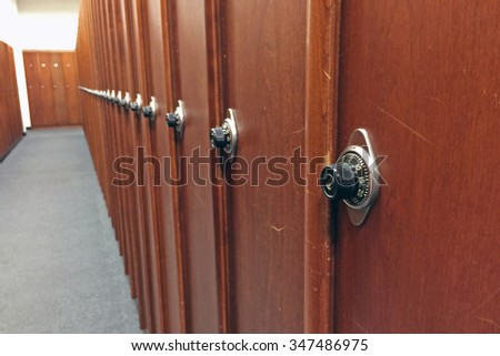 Row of locker - stock photo