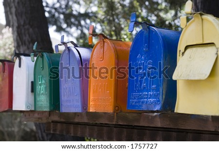 Row of mail boxes - stock photo