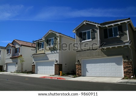 Row of New Houses - stock photo