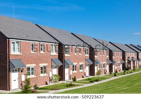 row new houses england stock photo edit now shutterstock - Houses Pic