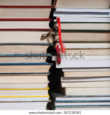 Row of old books - stock photo