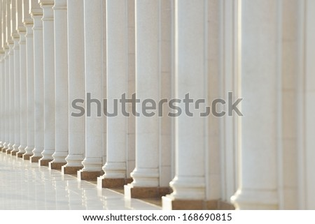 Row of pillars - stock photo