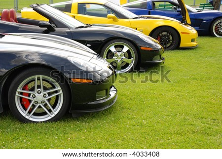 row of sport cars