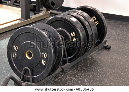 Row of weights