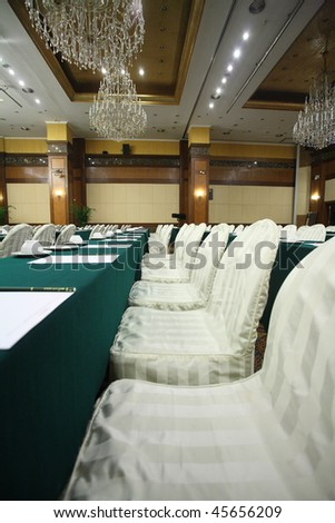 row seat in conference room interior