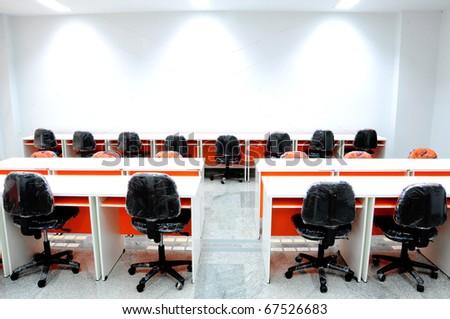 row seats in reading room - stock photo