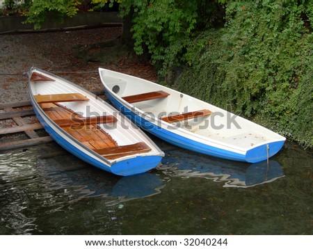 Rowboats, docked - stock photo