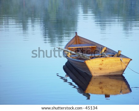 rowing boat - stock photo