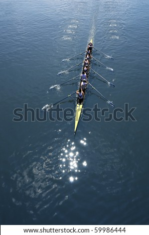 Rowing eight - stock photo