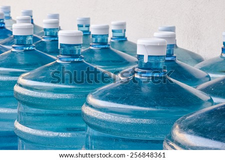 Rows of Big Bottle of Drinking Water Supply#3 - stock photo
