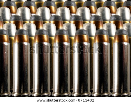 rows of bullets - .38 special