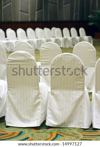 Rows of chairs for a big business conference. - stock photo
