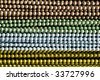 rows of colored mardi gras beads - stock photo