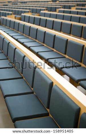 Rows of seats in a conference room