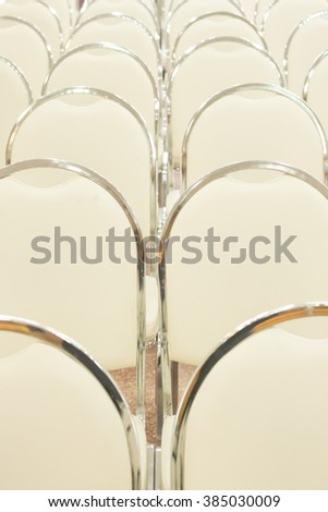 Rows of wedding ceremony chairs