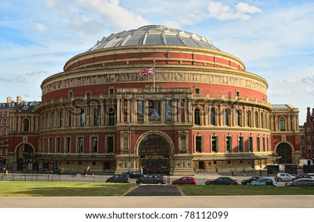 Royal Albert Hall, London, England, UK, in late afternoon daylight - stock photo