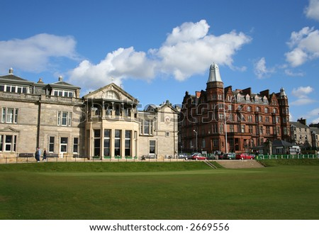 Royal and Ancient clubhouse, St Andrews, Fife, Scotland