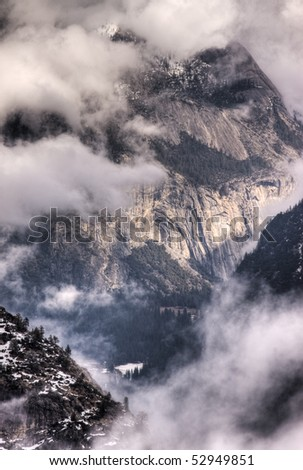 Royal Arches in Winter Storm - stock photo