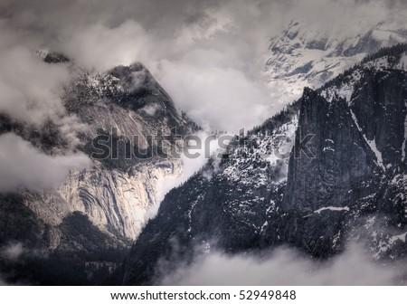 Royal Arches - Yosemite National Park - stock photo