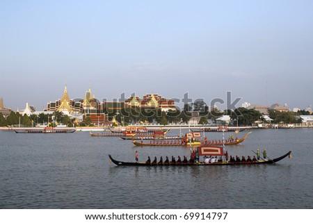 Royal Barge Procession - stock photo