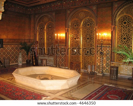 Royal bath in the palace - stock photo