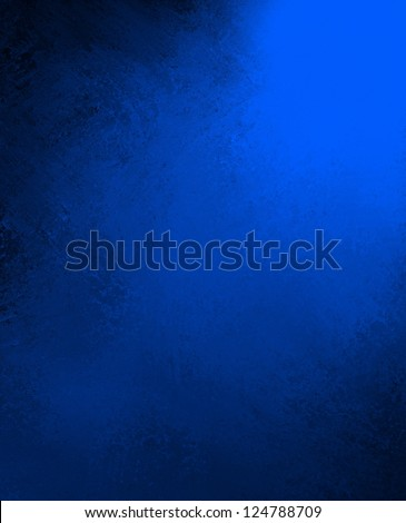 royal blue background black border, cool blue color background book cover vintage grunge background texture, abstract gradient background, luxury template black brochure blue paper, blue wall paint - stock photo