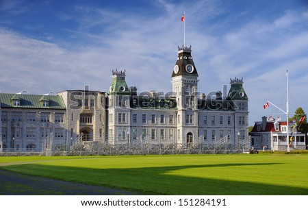 Royal Canadian Military College Kingston Ontario Public Educational Institution historic heritage building Canada - stock photo