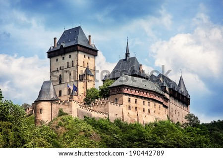 royal castle Karlstejn, Czech Republic - stock photo