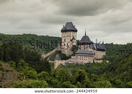 Royal castle Karlstejn in Czech Republic  - stock photo