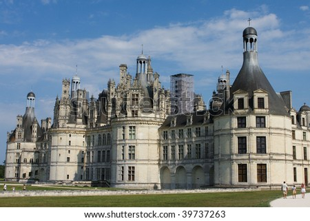 Royal Castle of Chambord in the Loire Valley in France - stock photo