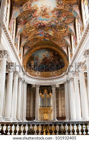 Royal Chapel of Versailles Palace, Paris, France - stock photo