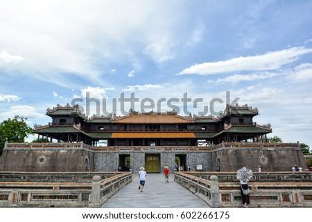 Royal citadel in Hue, Vietnam.