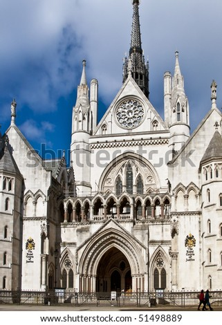 Royal courts of justice - stock photo