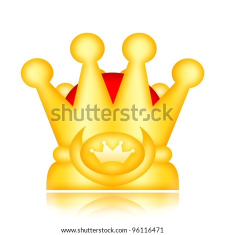 Royal crown isolated on white background - stock photo