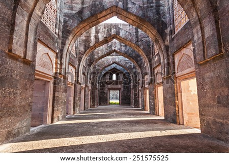 Royal Enclave in Mandu, Madhya Pradesh, India - stock photo