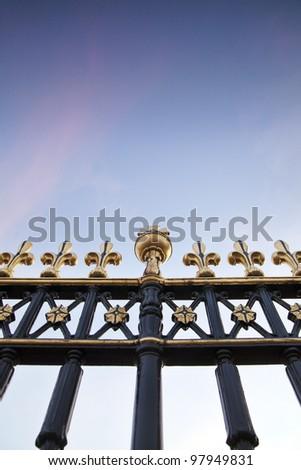 Royal Fence of Buckingham Palace - stock photo