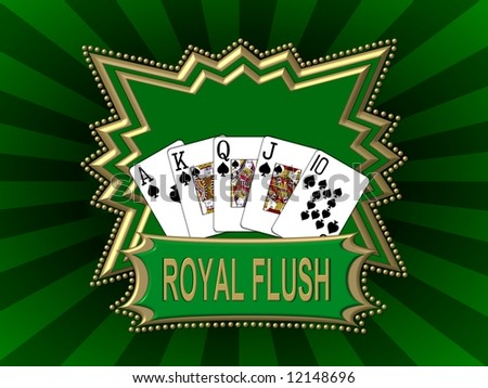 royal flash - green background