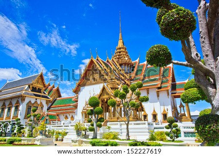 Royal grand palace in bangkok asia Thailand