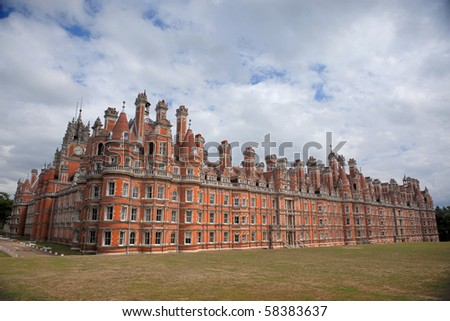 Royal Holloway University of London - stock photo