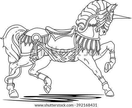 Stock Vector Roman Warrior In A Chariot Pulled By Two Horses Image Isolated On White