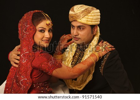 Royal Indian couple - stock photo