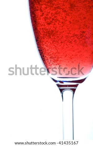 royal kir a french drink, bubbles in a glass - stock photo