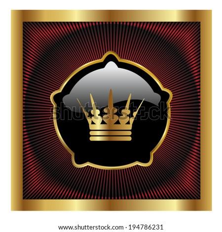 royal label - stock photo