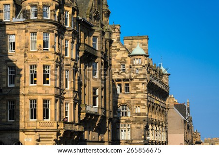 Royal Mile Buildings, Edinburgh - stock photo