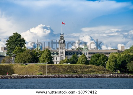 Royal Military College of Canada in Kingston Ontario - stock photo