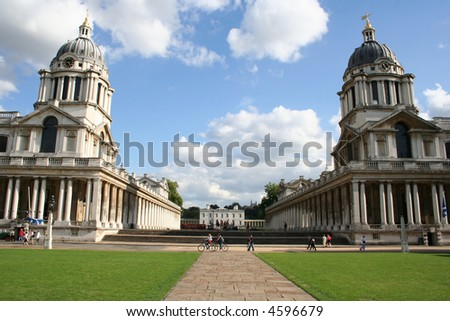 Royal naval college and Queen's house, Greenwich, London - stock photo