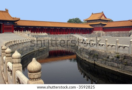 Royal palace Beijing, China - stock photo