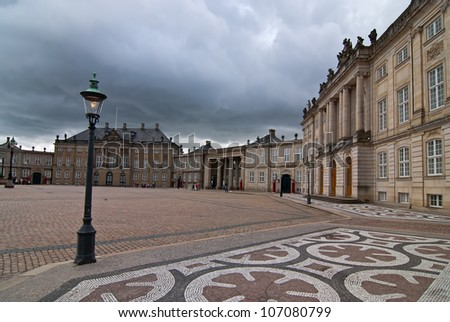 Royal Palace in Copenhagen. Tourist place of the old city. - stock photo