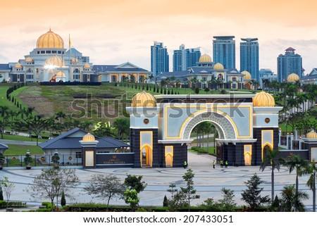 Royal Palace Istana Negara (Istana Negara), Kuala Lumpur, Malaysia - stock photo