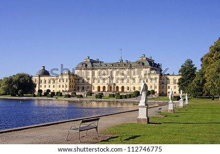 Royal palace of Drottningholm. Home of the Swedish Royal family - stock photo